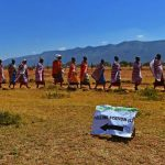 Maasai tribes-people leave after voting in Ilngarooj, Kajiado South County, Maasailand. (AFP)