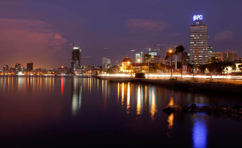 Luanda cityscape at dusk. (Reuters)