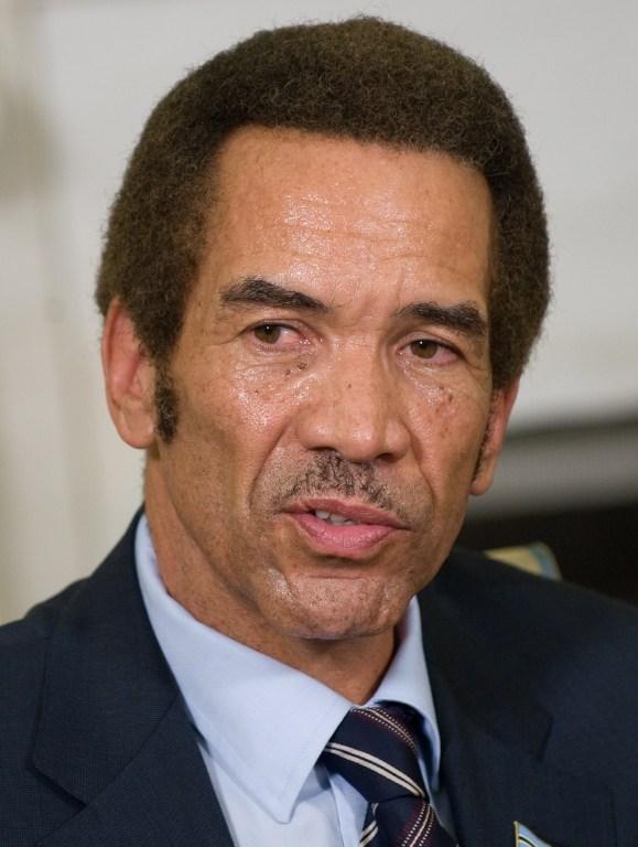 Botswana's President Ian Khama. (Pic: AFP)