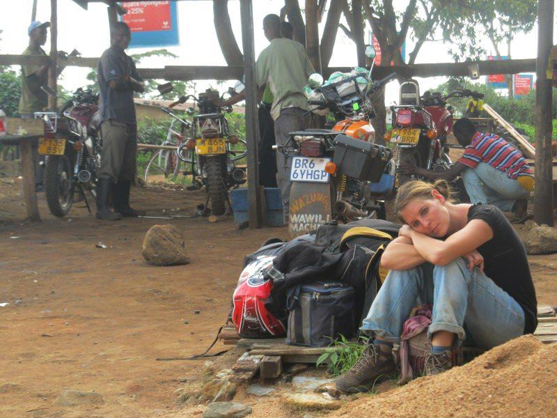 Down and out at the border between Tanzania and Kenya after 10 hours of driving, a crash, three breakdowns and no food.