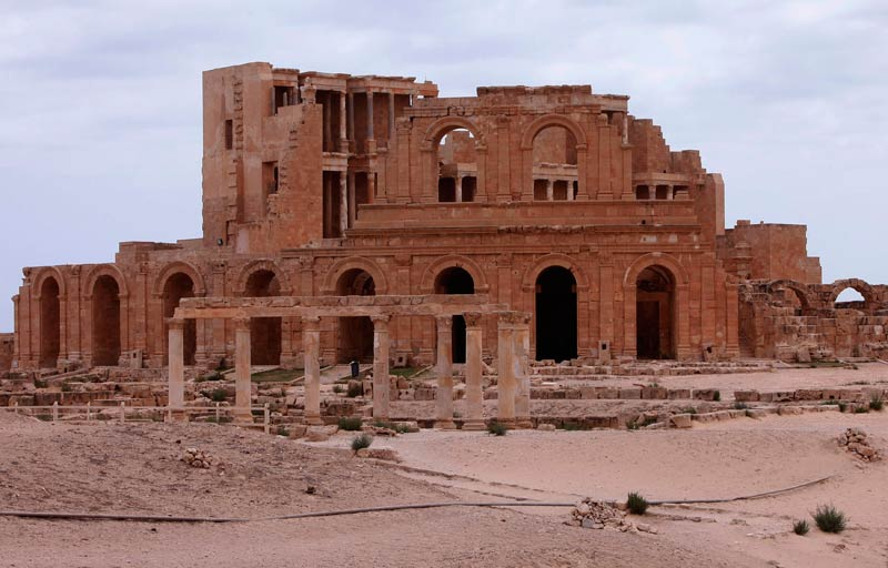 The ancient Roman city of Sabratha used to attract more than 20 000 foreign visitors annually before the 2011 conflict that ousted Muammar Gaddafi. Now the temples and mosaics overlooking the turquoise waters of the Mediterranean are usually deserted. (Pic: Reuters)