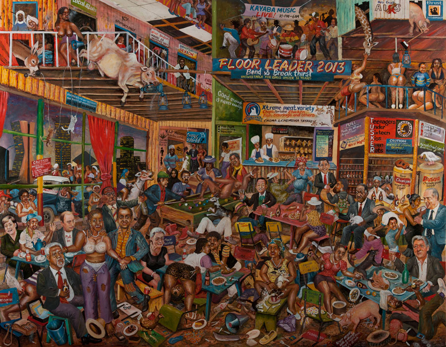 'The World's Craziest Bar' by Joseph Bertiers (Pic: Circle Art Agency)