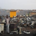 Ghanaians working in Agbogbloshie. (Pic: Wikimedia/Marlenenapoli)