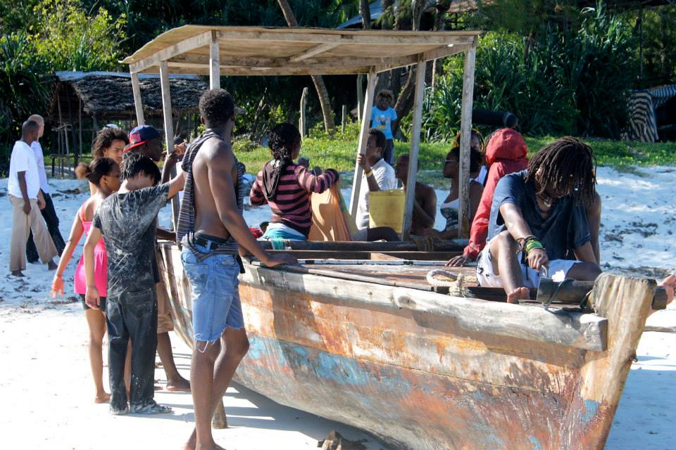Shooting scenes on the boat. (Pic: Usoni crew / Facebook)