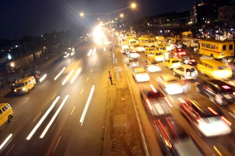 Traffic on Agege Motor Road in Lagos. (Pic: AFP)
