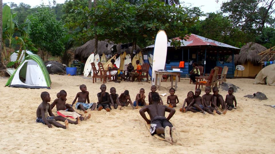 Junior members of the Bureh Beach Club (Pic: Facebook)
