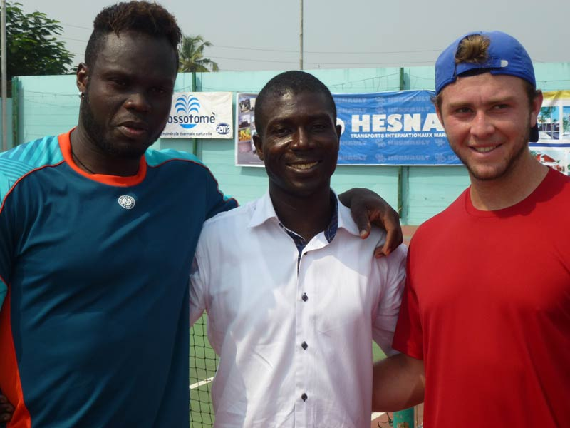 Boniface Papa Nouveau (centre) with two participants. (Pic: Tanja Schreiner)