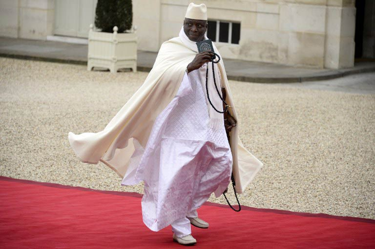 Gambia's President Yahya Jammeh. (Pic: AFP)