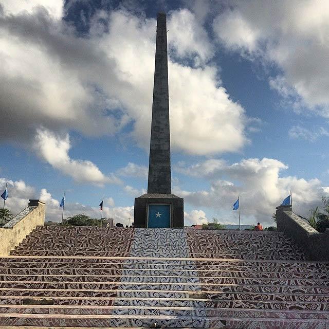 The Daljirka Dahson monument in Mogadishu. (Pic: Moulid Hujale)