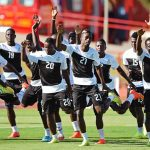 Ghana's players warm up during a training session in Brasilia. (Pic: AFP)