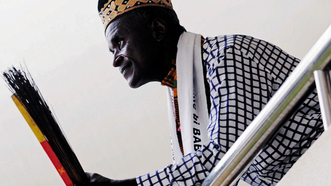 Gaston Bappa is keen to preserve Africa's heritage. (Pic: Terry Morris)
