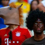 A spectator at the Germany-Ghana World Cup match on June 21. (Pic: AFP)