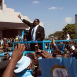 Malawi's President Peter Mutharika of the Democratic Progressive Party waves to supporters after he was sworn in in Blantyre on May 31 2014. (Pic: Reuters)