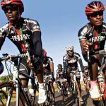 Members of the Kenyan Riders club, from left Samwel Ekiru, Suleiman Kangangi and Paul Ajiko. 'The world has to watch out,' says their coach Simon Blake. (Pic: Nicolas Leong)