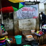 A sign warning of the dangers of Ebola outside a government hospital in Freetown on August 13 2014. (Pic: AFP)