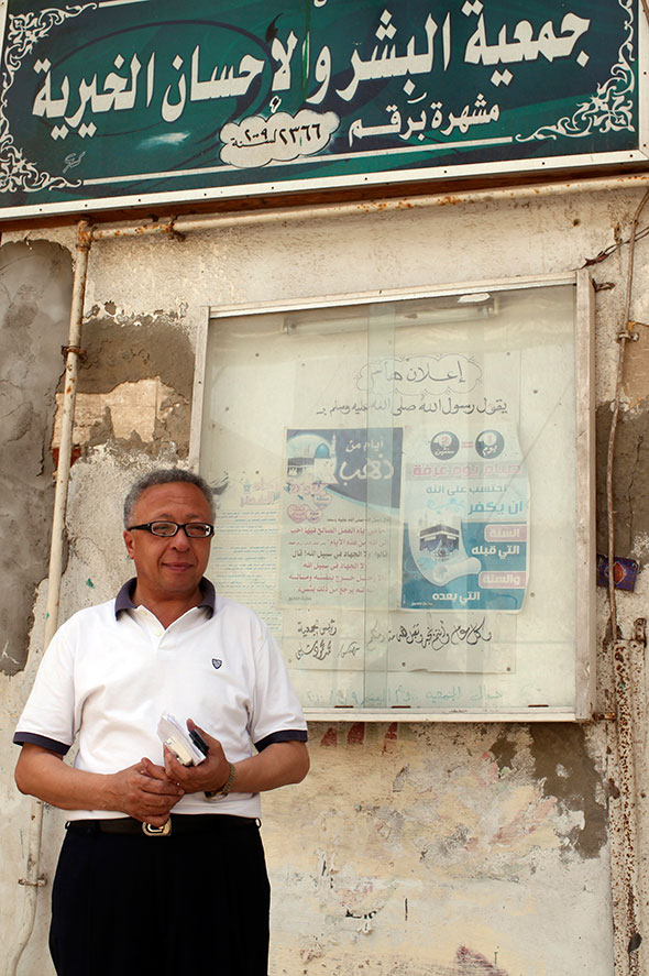 Ahmed Salamah, who is in charge of a humanitarian non-governmental organisation (NGO), talks to Reuters in front of his office in Alexandria June 2 2013. (Asmaa Waguih, Reuters)