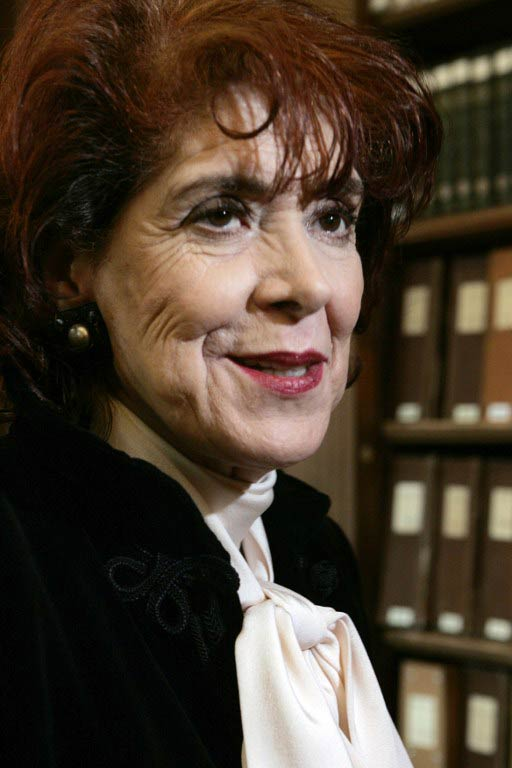 Assia Djebar at the Academie Francaise in Paris on June 22 2006. (Pic: AFP)