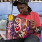 Kasha Jacqueline Nabagesera with an issue of 'Bombastic'. (Pic: AFP)
