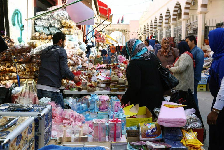 Libyan women shop in the old part of the capital, Tripoli, on March 17 2015. (Pic: AFP)