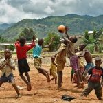 Children play football in Bujumbura on March 19 2015. (Pic: AFP)