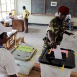 A Burundian soldier casts his ballot at a polling station in Bujumbura. (Pic: AFP)