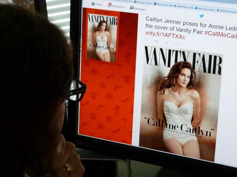 Caitlyn Jenner, the transgender Olympic champion formerly known as Bruce, unveiled her new name and look in a sexy Vanity Fair cover shoot in June. (Pic: AFP)