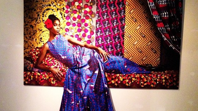 Art in Fashion exhibition in Germancy, featuring Vlisco fabric in the photo and draped on the picture. (Photo: Flickr/Marcdubach).