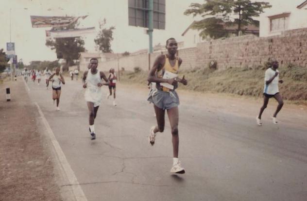 Japhet doing what he does best: running.